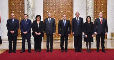 صور.. الوزراء الجدد يؤدون اليمين الدستورية أمام الرئيس السيسي
