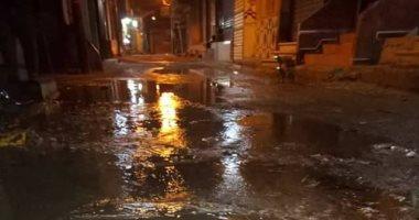 صور.. اضبط مخالفة .. مياه الشرب تغرق شوارع مدينة الإبراهيمية بالشرقية