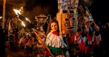 صور.. انطلاق مهرجان الأقنعة فى بلغاريا لطرد الأرواح الشريرة