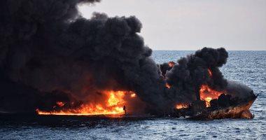النيران تشتعل فى ناقلة نفط عملاقة قبالة سريلانكا