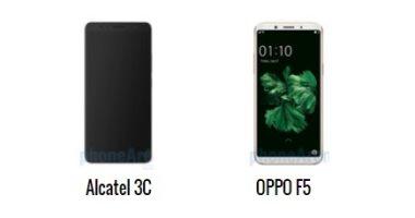 إيه الفرق.. أبرز الاختلافات بين هاتفى أندرويد OPPO F5 وألكاتيل 3C