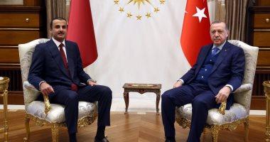 تنظيم الحمدين يحاول إنقاذ حليفه أردوغان ويوقع اتفاقية مع البنك المركزى التركى