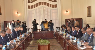 وزيرا خارجية مصر وإثيوبيا خلال جلسة مباحثات مشتركة