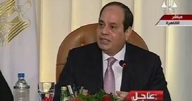 الرئيس: مصر لم تكن مديونة بجنيه واحد سنة 60.. وغطاء الذهب راح فى حرب اليمن