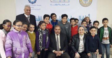 صور.. لقاء مفتوح بين رئيس جامعة الأزهر وطلاب مشروع جامعة الطفل