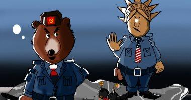 حال الدنيا.. روسيا وأمريكا يتافسان على الشرق الأوسط.. فى كاريكاتير اليوم السابع