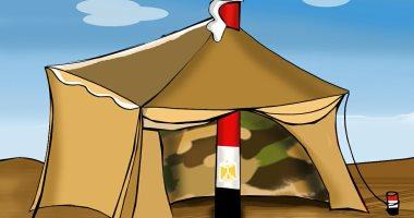 حال الدنيا.. مصر عمود ووتد خيمة العرب.. فى كاريكاتير اليوم السابع