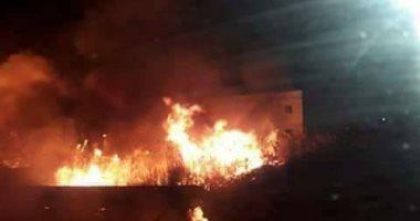 الدفاع المدنى العراقى يسيطر على حريق بمقطورة تحمل مواد النازحين
