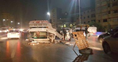 إصابة 11 شخصًا جراء انقلاب سيارة فى ترعة مجاورة للطريق الزراعى بأبو حمص