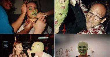 بعد عرضه بـ24 سنة..  صور نادرة من كواليس تصوير جيم كارى لفيلم The Mask