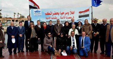صور..السفير اليوناني بالقاهرة يعرب سعادته بزيارة قناة السويس