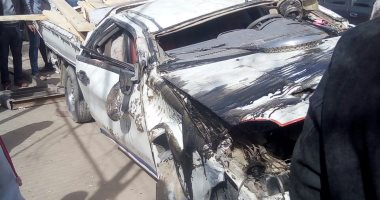 إصابة 12 شخصا فى انقلاب سيارة ميكروباص بطريق سفاجا الغردقة