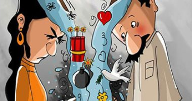 حال الدنيا.. تشكيل وعى الأبناء مسئولية الآباء فى كاريكاتير اليوم السابع
