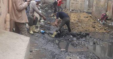 صور .. حملة لإزالة مخلفات حفر الغاز وصيانة خطوط المياه بفوه