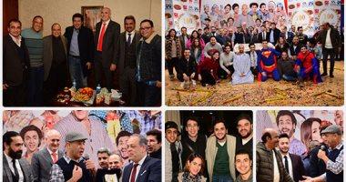 """أشرف عبد الباقى ونجوم الفن يحتفلون بـالعرض """"100"""" لمسرح مصر"""