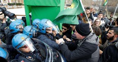 اشتباكات وإصابات فى روما احتجاجا على زيارة أردوغان إلى إيطاليا