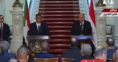 مصر والسودان فى بيان مشترك: عقد اللجنتين العسكرية والأمنية للبلدين قريبا