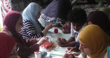 صور.. طلاب مدارس فى مخيم طفل قصور الثقافة بمعرض الكتاب