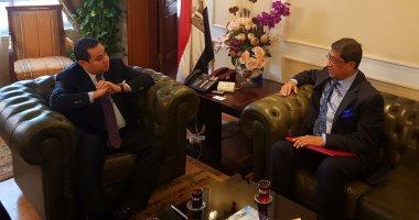 وزير قطاع الأعمال يستقبل سفير الهند بالقاهرة لبحث أوجه التعاون المشترك