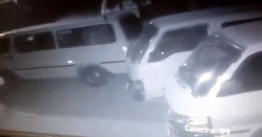 فيديو.. سرقة سيارة ميكروباص بقرية كفر شبين فى القليوبية