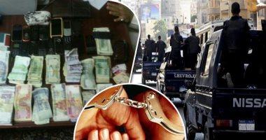 سقوط 6 متهمين لتورطهم فى تجارة المخدرات بالجيزة