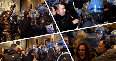 اشتباكات بين شرطة إيطاليا ومحتجين بعد العثور على جثة فتاة داخل حقيبة