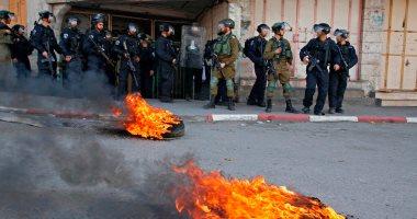 صور.. اشتباكات بين الفلسطينيين وقوات الاحتلال الإسرائيلى بالضفة الغربية