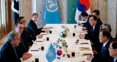 """صور.. الأمم المتحدة تدعو كوريا الشمالية إلى الحوار مع """"الجنوبية"""""""