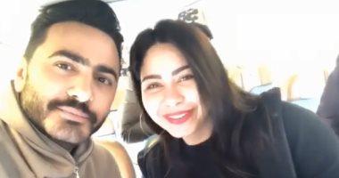 فيديو.. تامر حسنى وشيرين فى السويد لإحياء حفلين بعد غياب طويل
