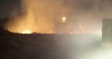 صور.. قارئ يشتكى من الأدخنة الناتجة عن حرائق القمامة فى جسر السويس