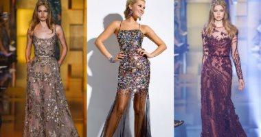1d8b5f749 صور.. اعرفى أحدث أشكال الفساتين المطرزة لو بتدورى على حاجة مختلفة ...