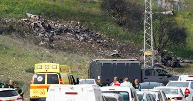 """ننشر صور سقوط طائرة إسرائيلية من طراز """"إف 16"""" على الحدود السورية"""