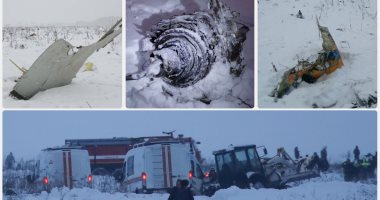 مصرع 71 راكبا فى تحطم طائرة روسية بموسكو