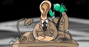"""حال الدنيا.. """"العصفورة"""" تغزو المؤسسات فى كاريكاتير اليوم السابع"""
