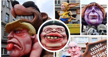 الألمان يسخرون من ترامب وميركل وماى فى الكرنفال السنوى