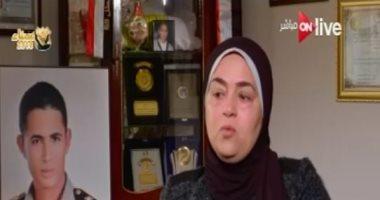 """والدة الشهيد محمد عبده بـ""""ON Live"""": العملية سيناء 2018 تمنع الخطر المرتقب (فيديو)"""