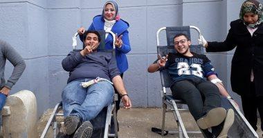 """حملة للتبرع بالدم فى بنى سويف """"دمى لجنود بلدى"""""""