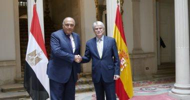 وزيرا خارجية مصر وإسبانيا يتفقان على إنشاء آلية تشاور سياسية دورية