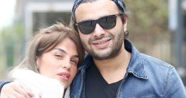 رامى صبرى يحتفل بحريته مع زوجته شيرين .. صور