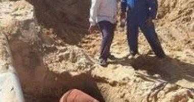 الانتهاء من إصلاح عطل خط المياه الرئيسى بشمال سيناء