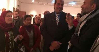 """افتتاح معرض """"للمنحوتات الخشبية"""" بثقافة القناطر الخيرية"""
