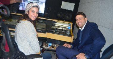 """صور.. محمد نور وياسمين علي فى الاستوديو لتسجيل تتر """"أنا شهيرة أنا الخائن"""""""