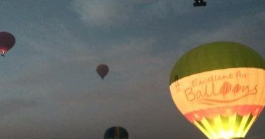 تحليق 21 رحلة بالون تقل 405 سائحين أجانب فى سماء الأقصر -