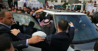 الاعتداء على القطرى محمد العمادى فى غزة