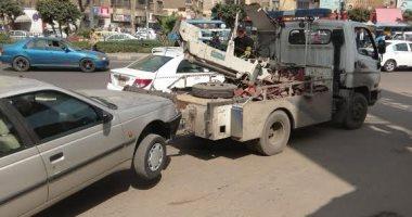 المرور يضبط 12 سيارة و دراجة بخارية متروكة فى حملات بالجيزة