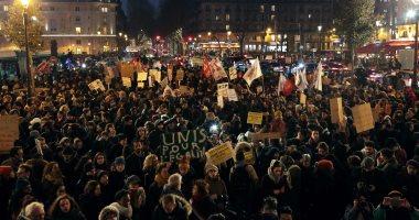 مظاهرات بمحيط السفارة الأمريكية فى باريس تنديدا بعنف الشرطة والعنصرية