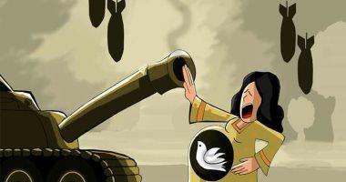 """حال الدنيا.. حق الحياة لمدينة الغوطة الشرقية فى كاريكاتير """"اليوم السابع"""""""