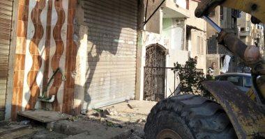 صور.. جهاز مدينة 6 أكتوبر يستكمل حملة لإزالة الإشغالات والمخالفات