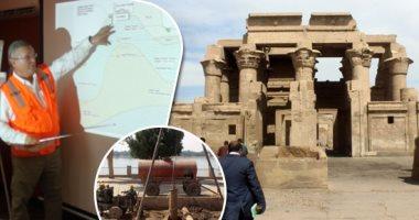 ماذا حدث للوحتين المكتشفتين فى منطقة آثار معبد كوم أمبو؟ الوزارة تجيب