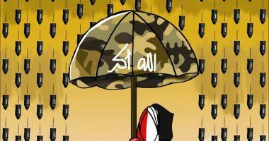 حال الدنيا.. أمطار ورياح عدم استقرار بالشرق الأوسط.. فى كاريكاتير اليوم السابع